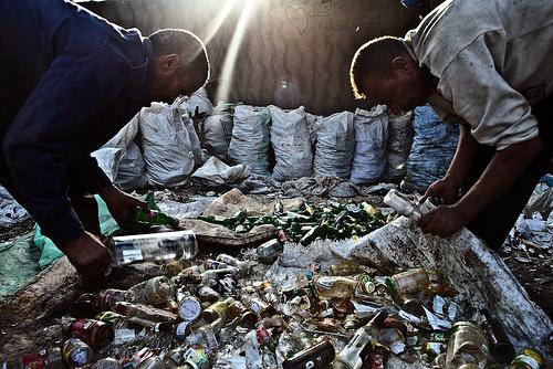 Zabaleen sorting through trash in Cairo