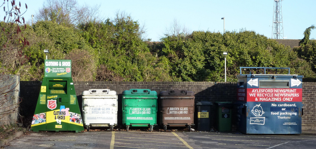 waste management and recycling bins