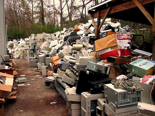Electronic waste waiting to be recycled
