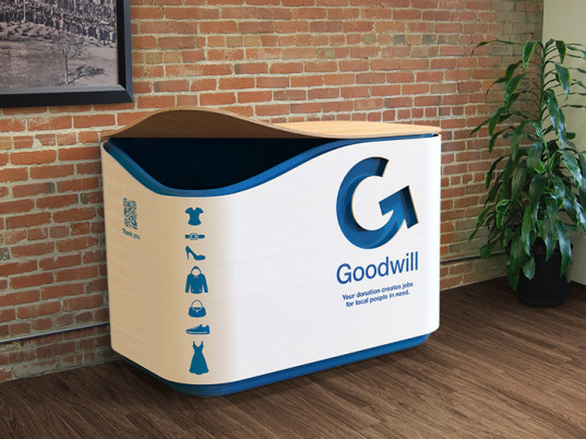 The GoBin makes textile recycling easy