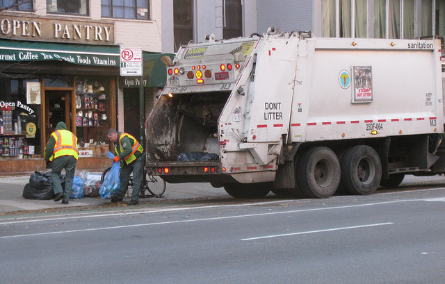 Sam Saha wants to reduce the number of garbage trucks on the street. From Eden, Janine and Jim.
