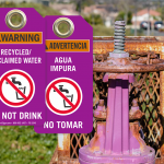 Reclaimed Water Tags: Sustainability with Caution