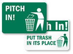 Pitch-In Signs and Labels