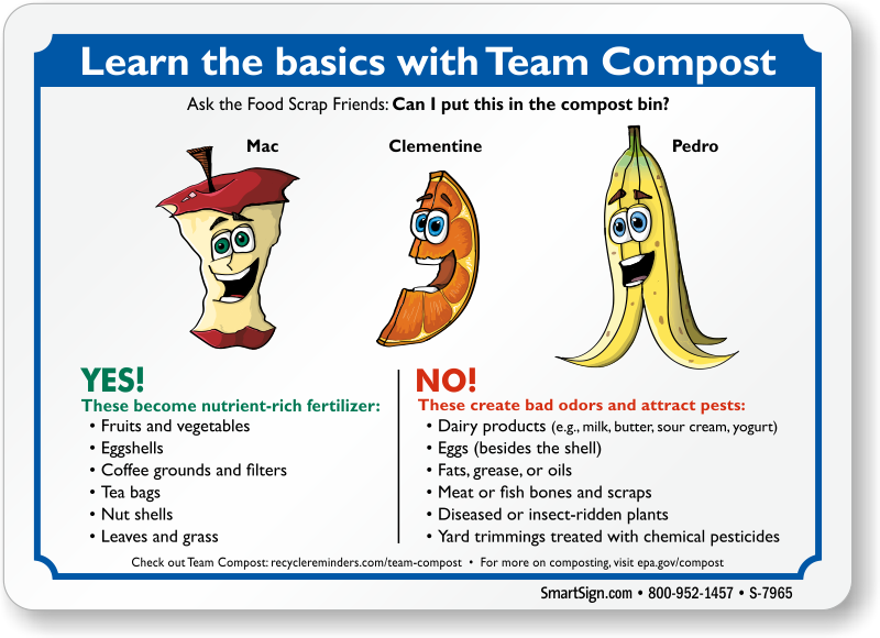 Team Compost Sign Can I Put Food Ss In Bin Sku S 7965