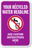 Custom Recycling Sign - Add Headline, Instructions