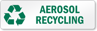 Aerosol Recycling Recycling Label