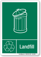 Landfill Graphic Recycling Label