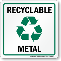 Recycle Metal Label (with graphic)