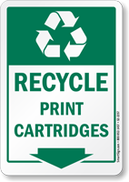 Recycle Print Cartridges Label
